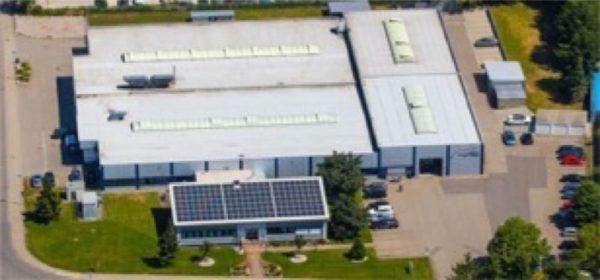 Luftaufnahme: Firmengebäude Heckel Präzisionsteile